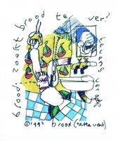 Herman Brood lith zelfportret Herman in Bad Popserie 1993 artprint