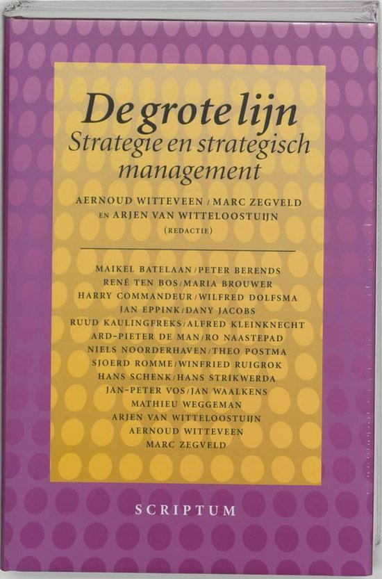 Boek cover De grote lijn van Onbekend (Hardcover)