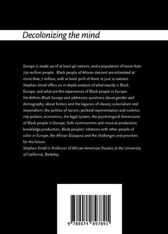 Decolonizing the mind 8 -   20 Questions and answers on Black Europe