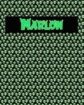 120 Page Handwriting Practice Book with Green Alien Cover Marlon