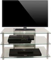 VCM Sindas - Tv-meubel - Transparant - Aluminium/Glas