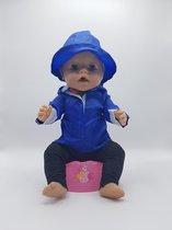 B-Merk Baby Born regenjas, blauw