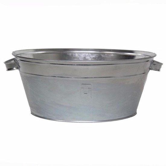 Ronde zilveren drankemmer/drankkoeler 11 liter