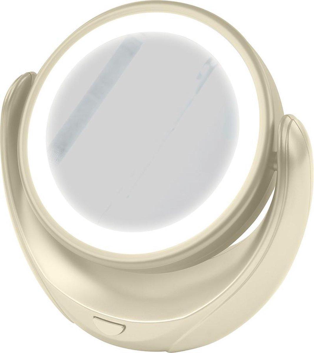 MARTA MT-2653 verlichte make-up spiegel/Ø11CM/parelmoer - MARTA