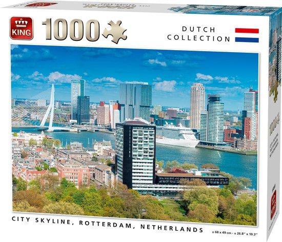 Afbeelding van King Puzzel - CITY SKYLINE ROTTERDAM - 1000 Stukjes speelgoed