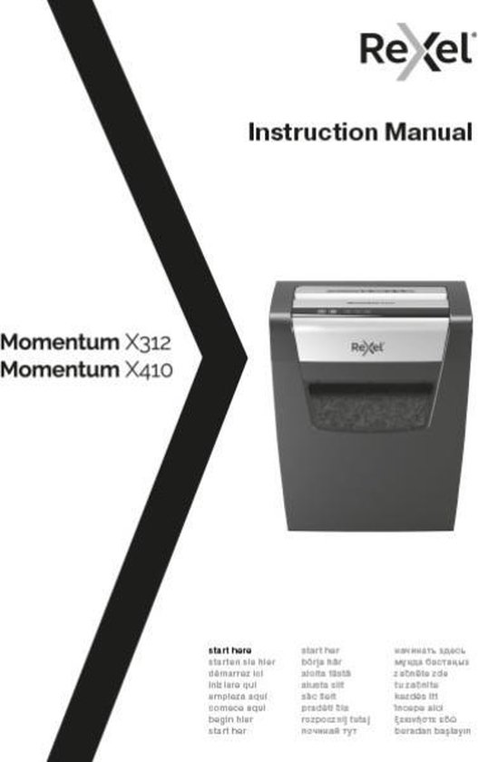 Rexel Papiervernietiger Momentum X312 P3 Crosscut