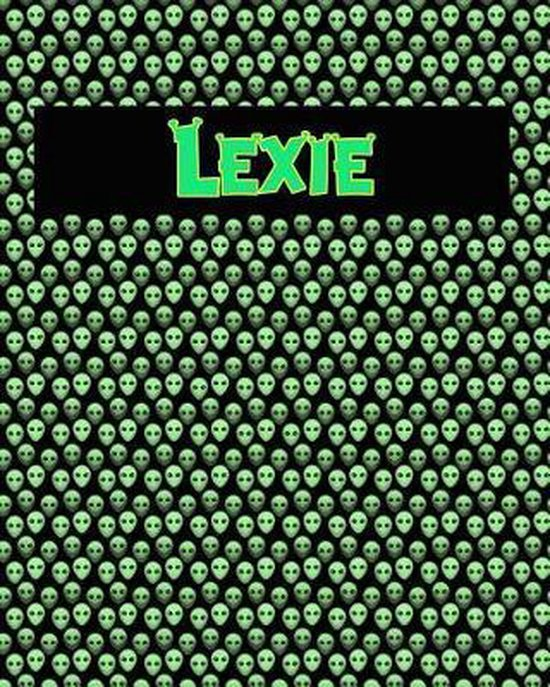 120 Page Handwriting Practice Book with Green Alien Cover Lexie