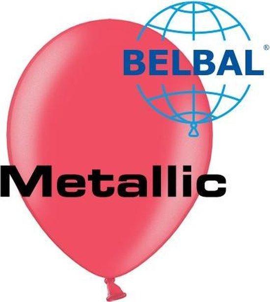 Ballonnen Metallic Cherry Red D5 11 cm 100 stuks
