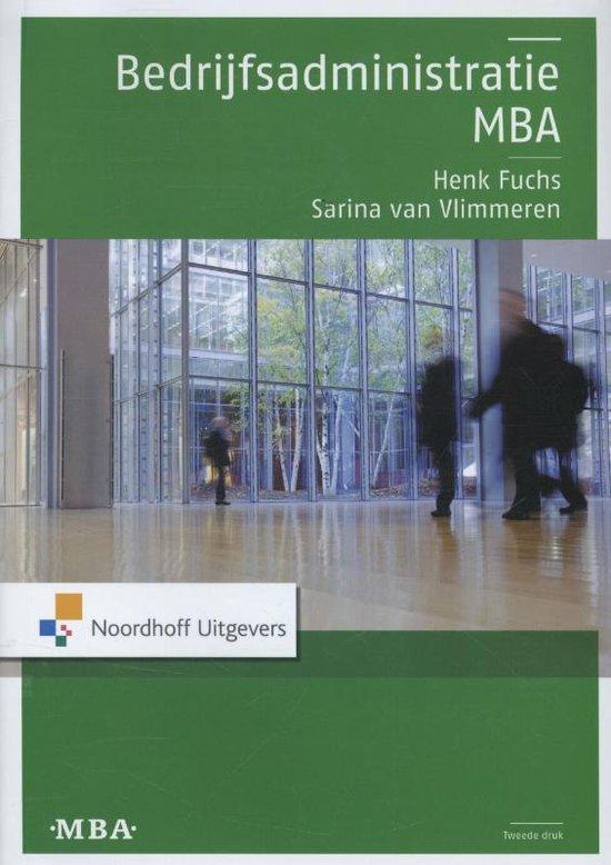 Bedrijfsadministratie MBA - Henk Fuchs |