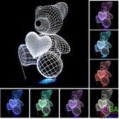 """3D Illusie Lamp """"JobaStores®"""" Beer (7 kleuren instelbaar)"""
