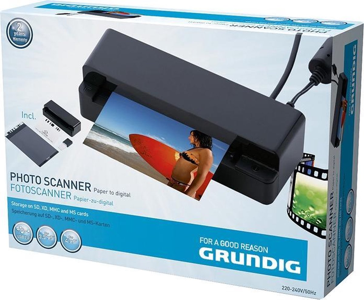 Grundig - USB fotoscanner - SD, xD, MMC en MS memorycards - Van papier naar digitaal - Grundig