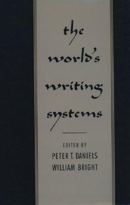 Boek cover The Worlds Writing Systems van Daniels (Hardcover)