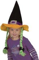 Kinder heksenhoed met vlechten