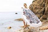 Mycha Ibiza – roundie – rond strandlaken – zeemeermin – gekleurd – 100% katoen – badstof