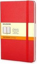 Moleskine Classic Notitieboek Hard cover - Large - Rood - Lijnen