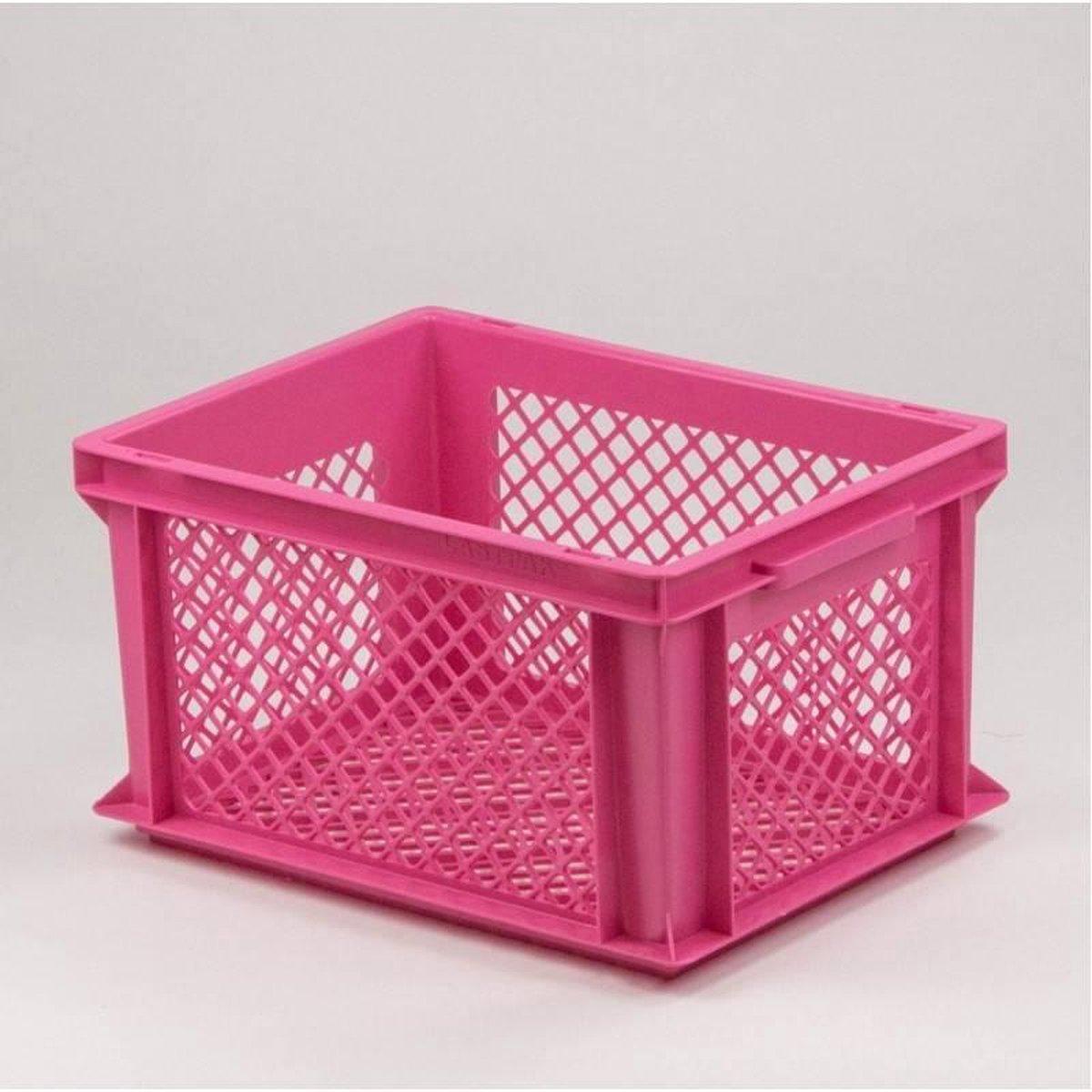 Fietskrat Kunststof Roze M - prima krat voor opvallend lage prijs - Lastpak
