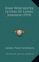Some Winchester Letters of Lionel Johnson (1919)