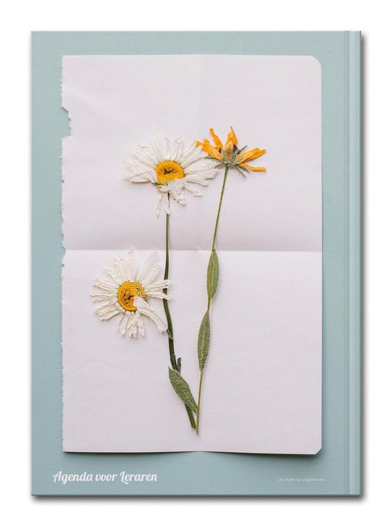 Hardcover Flower Power - 2021-2022 - Lerarenagenda/Docentenagenda