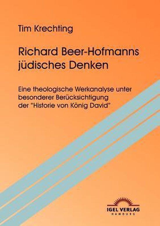 Boek cover Richard Beer-Hofmanns judisches Denken van Tim Krechting (Paperback)