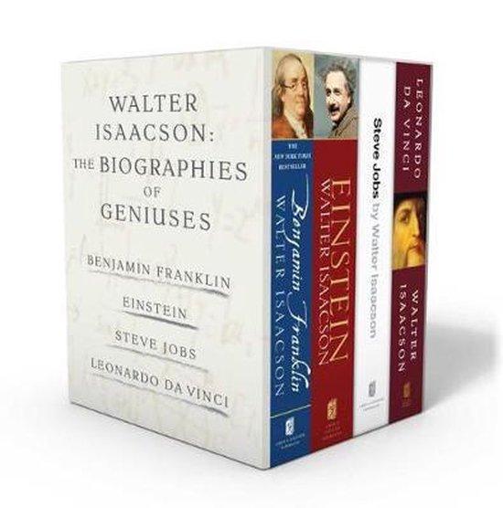 Boek cover Walter Isaacson: The Genius Biographies van Walter Isaacson (Boxed Set)