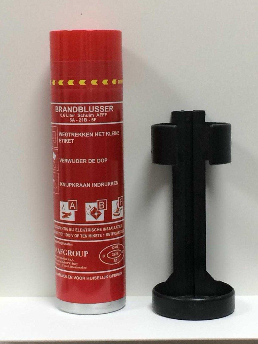 Schuimblusser/  brandblusser, Firestop, spray A,B en F Set. (1x blusser en 1x houder): voor alle beg