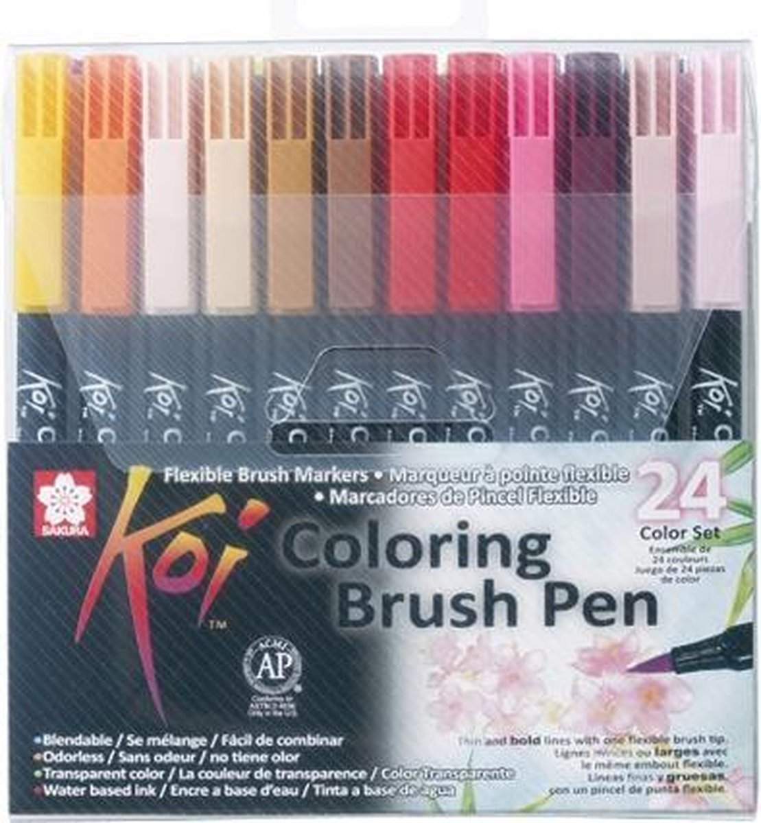 Sakura Koi Coloring Brush Pens - 24 kleuren