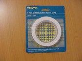 Foam tape - 2,6m x 18mm - afplaktape - plakband
