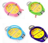 Stahlex Ø10mm / 65cm kabelslot schlechts 110g met 4-stellig cijferslot | Het eerste fietsslot voor uw kind | Paars