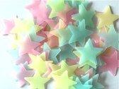 200 Multikleurige Sterren aan de hemel - Glow in the dark sterren - lichtgevende Multikleurige  sterren - Leuk voor in de kinderkamer - 200 stuks
