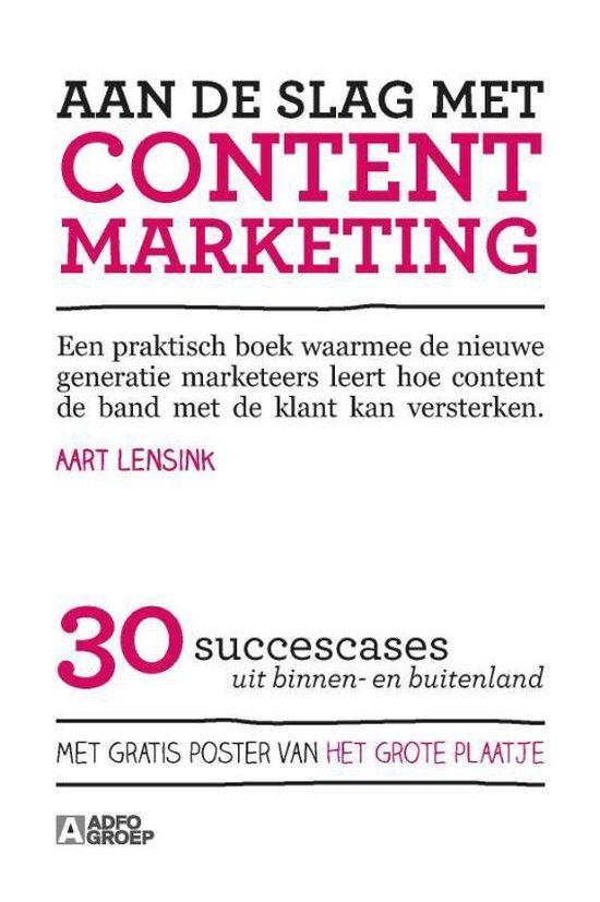 Omslag van Aan de slag met content marketing