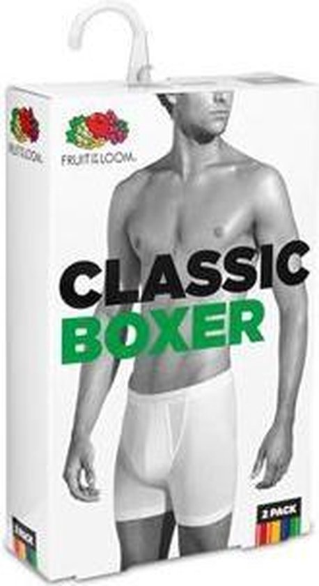 Klassieke boxers Fruit of the Loom Wit maat L 2-pack