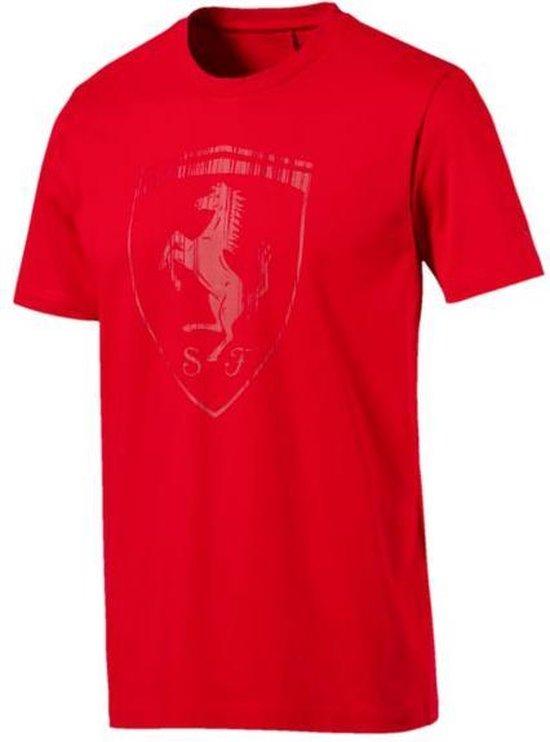 PUMA Ferrari Big Shield Tee Heren - Rosso Corsa - PUMA
