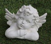 Tuinbeeld engel - decoratie voor binnen/buiten - beton