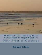 30 Worksheets - Finding Place Values with 11 Digit Numbers