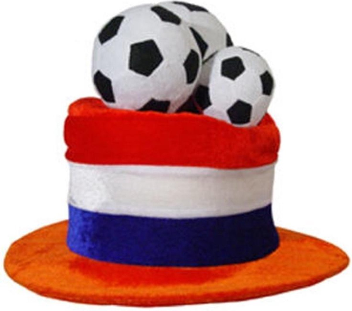 Oranje hoed met voetbal Nederlands elftal Koningsdag