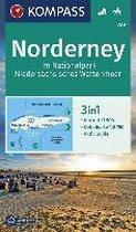 Norderney im Nationalpark Niedersächsisches Wattenmeer 1:17 500
