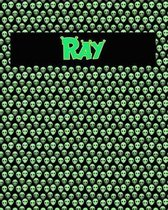120 Page Handwriting Practice Book with Green Alien Cover Ray