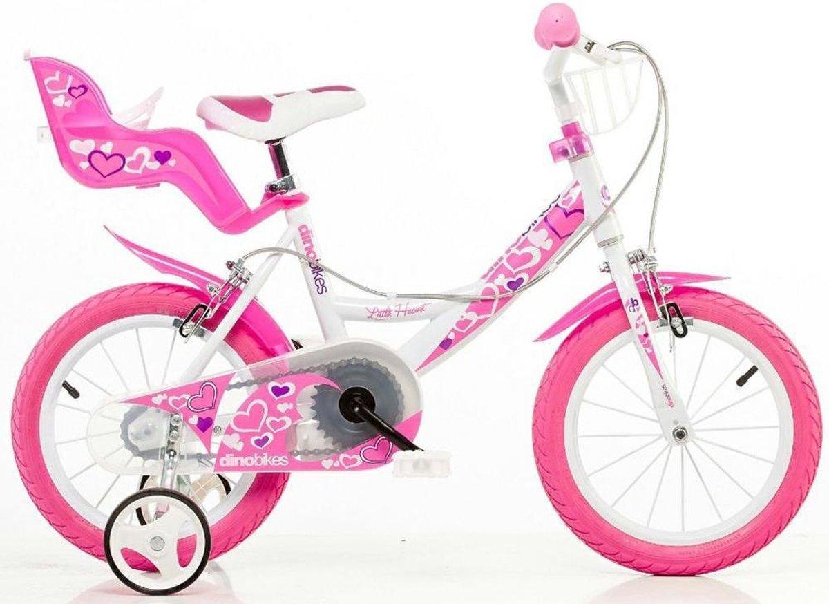 Dino Bikes Little Heart fiets 16 inch met handremmen