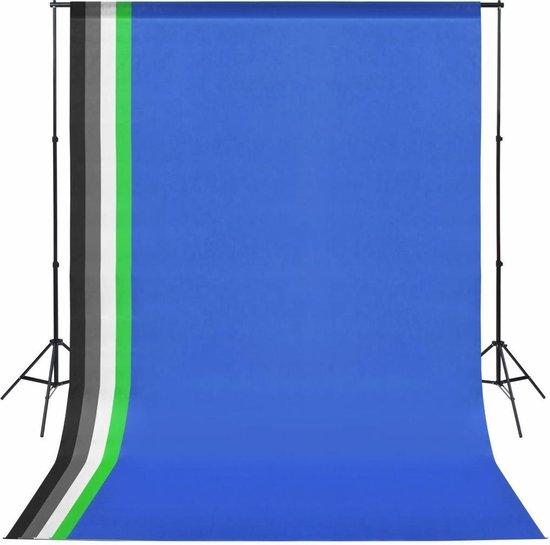vidaXL Fotostudio set met 5 achtergronden en verstelbaar frame