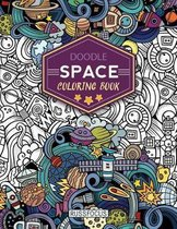 Doodle Space Coloring Book