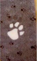 Vetbed - hondendeken XXL Bruin met 3 kleuren. Grote Voetprint Latex Anti Slip 150 x 100 cm