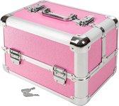 Tectake  - Beautycase - Afsluitbaar - Roze