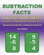 Subtraction Facts Practice Worksheets Arithmetic Workbook with Answers