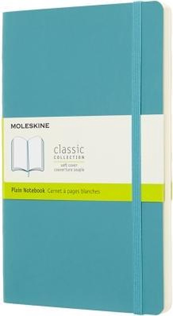 Moleskine Classic Notitieboek Soft Cover - Large - Blauw - Blanco