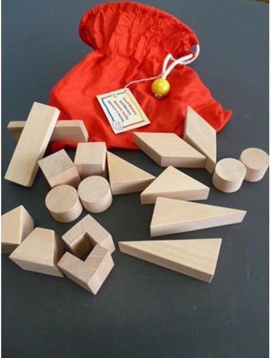 Afbeelding van het spel Tast memo spel blank houten blokjes in zak