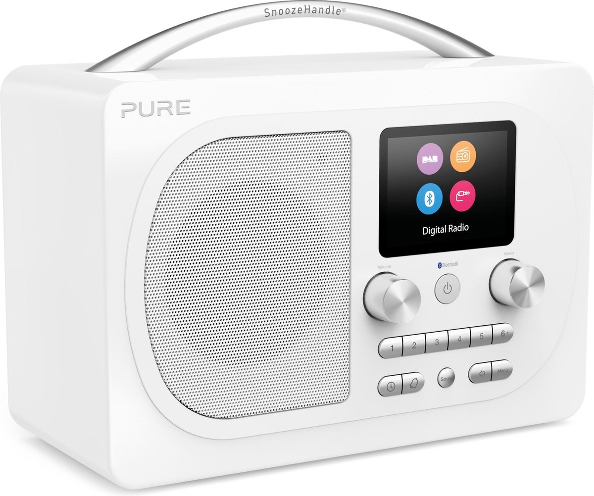 Pure Evoke H4 Prestige Edition Draagbaar Digitaal Wit radio