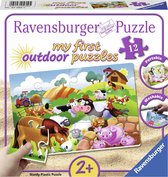 Ravensburger Lieve boerderijdieren plastic puzzle - 12 stukjes - kinderpuzzel