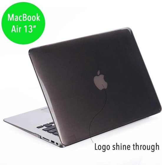 Lunso - hardcase hoes - MacBook Air 13 inch (2010-2017)- glanzend grijs