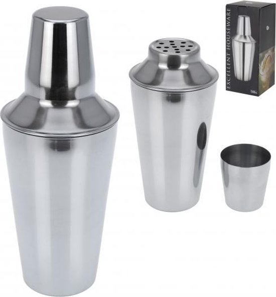 Cocktailshaker 500 ml staal