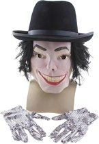 Michael Jackson set - masker, hoed en glitter handschoenen